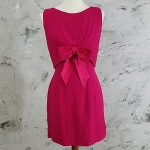 VINTAGE 60's Deep Fuchsia Pink Two Piece Dress